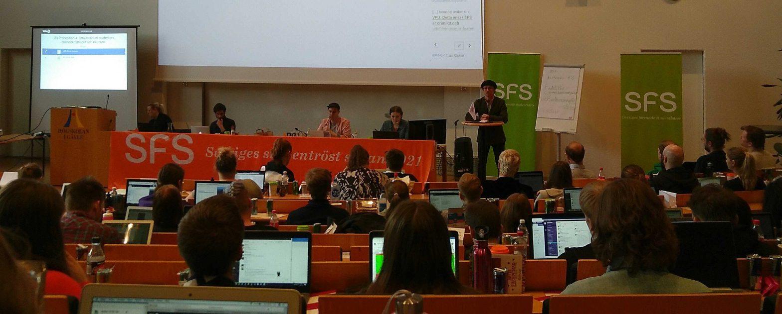 Plenum på SFSFUM i Gävle 2018.